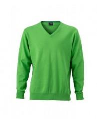fcf762891b James & Nicholson Férfi V-nyakú Pulóver zöld színben