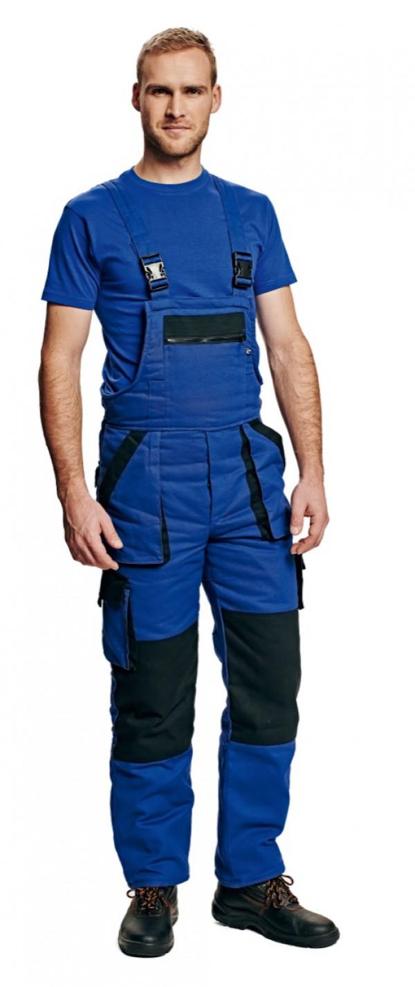 MAX téli kantáros nadrág kék/fekete