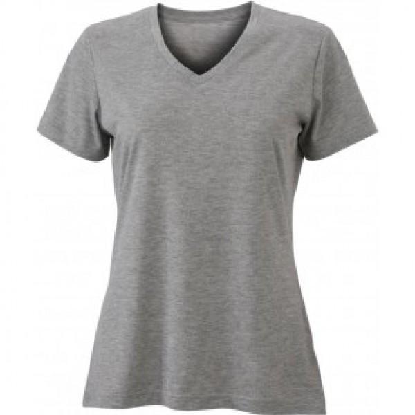 James & Nicholson Szürke színű női V-nyakú póló