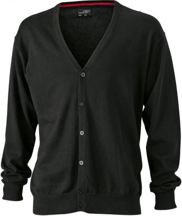 James & Nicholson fekete színű Férfi V-nyakú Kardigán