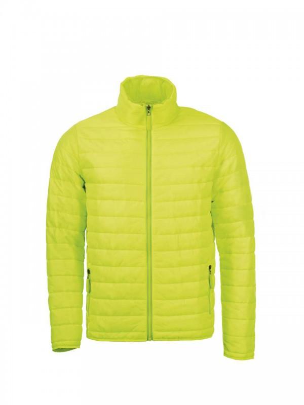 Férfi vékony dzseki ultra sárga színű