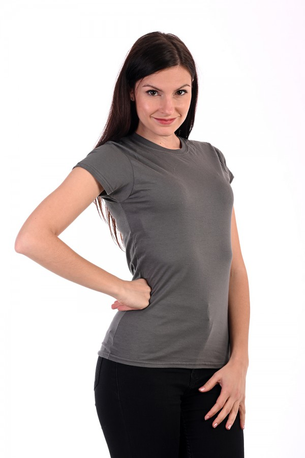 Női Póló rövid ujjú póló sötététszürke