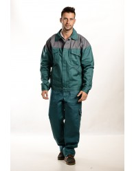 Zöld-szürke Férfi munkakabát, 300g