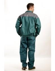 Zöld-szürke Férfi munkakabát, 250g