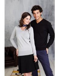 Női V-nyakú pulóver