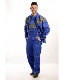 Kék-szürke Férfi munkakabát, 250g