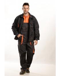 Szürke-narancssárga Férfi munkakabát, 275 g