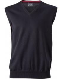James & Nicholson  Férfi V-nyakú ujjatlan pulóver sötétszürke színű