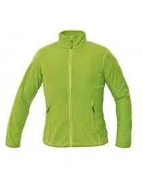 GOMTI női polár kabát zöldcitrom