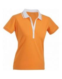 James & Nicholson Narancs Női elasztikus Piqué Polo