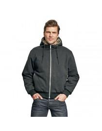 KARUP kapucnis pulóver fekete