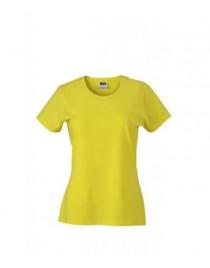 James & Nicholson Sárga színű Női Slim Fit póló