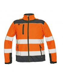 RYTON SOFTSHELL kabát HV narancssárga