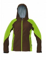 YOWIE SOFTSHELL kabát barna/zöld