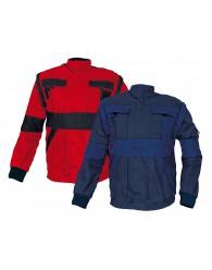 MAX kabát 260 g/m2 piros/fekete