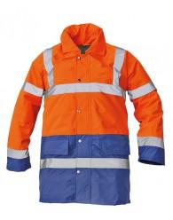 SEFTON kabát HV narancssárga-royal