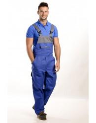 Kék-szürke színű férfi kantáros nadrág, 300g