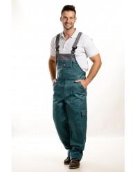 Zöld-szürke színű férfi kantáros nadrág, 250g
