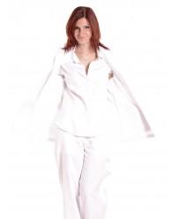 Női ápolónői fehér pulóver