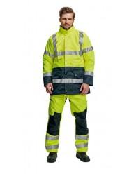 BIROAD kabát HV sárga/sötétkék