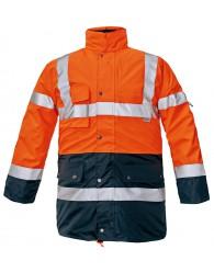 BIROAD kabát HV narancs/sötétkék