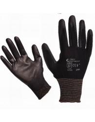 BUNTING Black nylon PU kesztyű