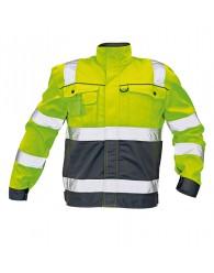 COLYTON kab HiVis kabát sárga-szürke
