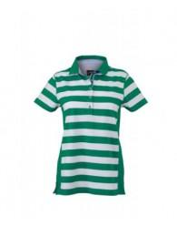 James & Nicholson Zöld Csíkos női galléros póló