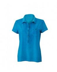 James & Nicholson női türkiz színű galléros póló