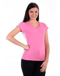 Fruit of the Loom Karcsúsított pink női póló