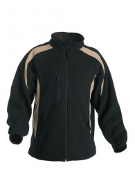 TENREC polár kabát fekete/bézs