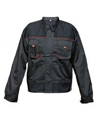 FF BE-01-002 kabát fekete/piros