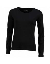 James & Nicholson Női fekete színű Hosszú ujjú póló