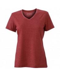 James & Nicholson Bordó színű női V-nyakú póló