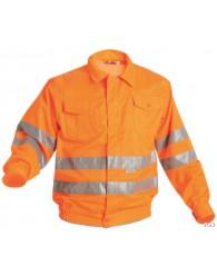 KOROS kabát HV narancs