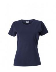 James & Nicholson sötétkék Női Slim Fit póló