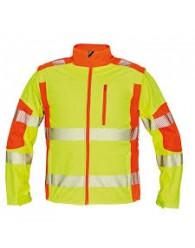 LATTON softsh. kabát HV sárga/naranc