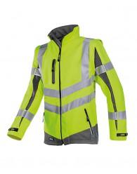 MALDEN softshell kabá HV sárga/szürke