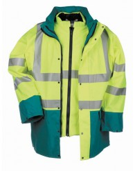 MARIANIS HV téli kabát sárga/zöld
