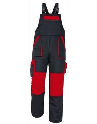 MAX téli kantáros nadrág fekete/piros