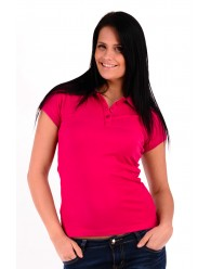 Női Galléros Póló - Pink
