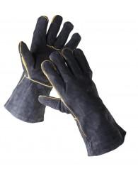 SANDPIPER BLACK bőrkesztyű