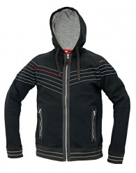 WINTON kapucnis pulóver fekete