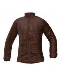 YOWIE női polár kabát barna